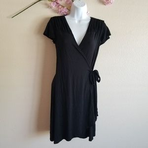 Tart black wrap dress small